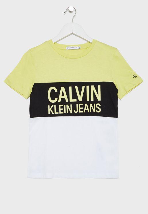Kids Logo Printed Crew Neck T-Shirt
