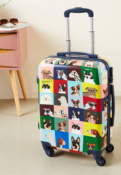 Printed Trolley Suitcase