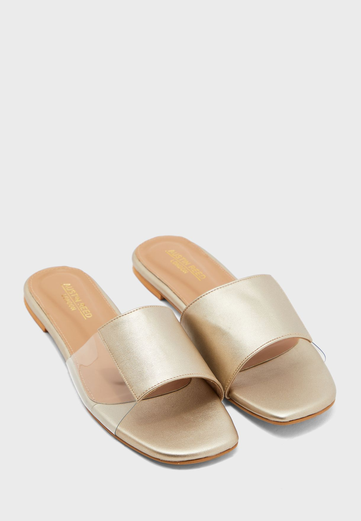 Buy Austin Reed Gold Wide Strap Flat Sandal For Women In Kuwait City Other Cities Aulfs34dff