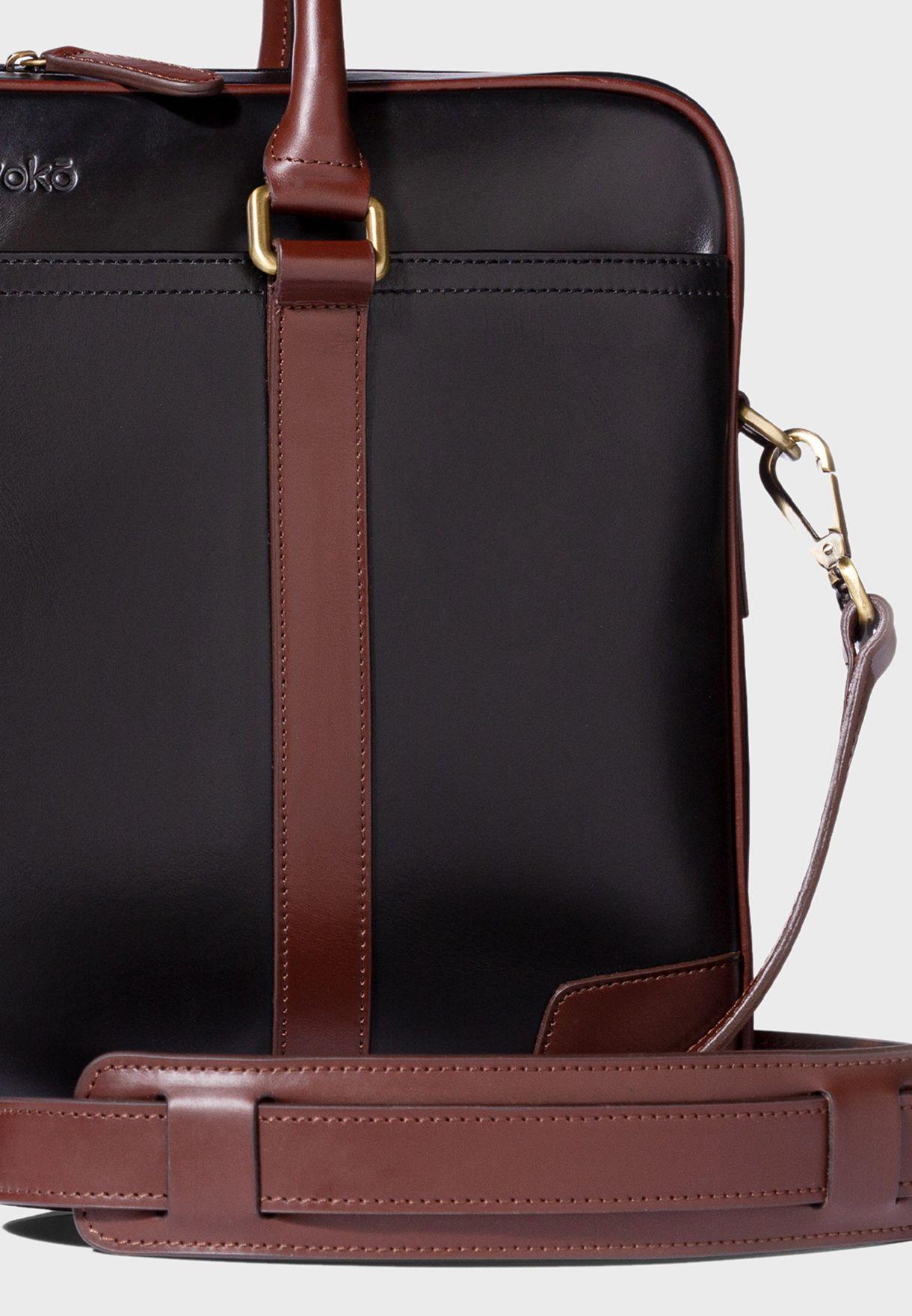 15' Wellington Leather Briefcase