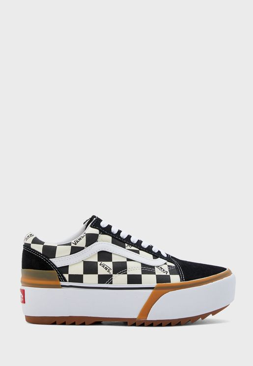 Checkerboard Old Skool Stacked