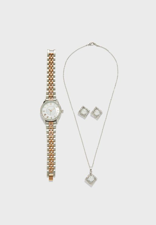 Watch And 2 Piece Jewellery Set
