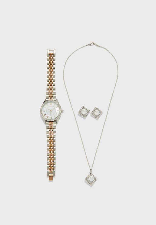 Watch And 2 Piece Jewelry Set