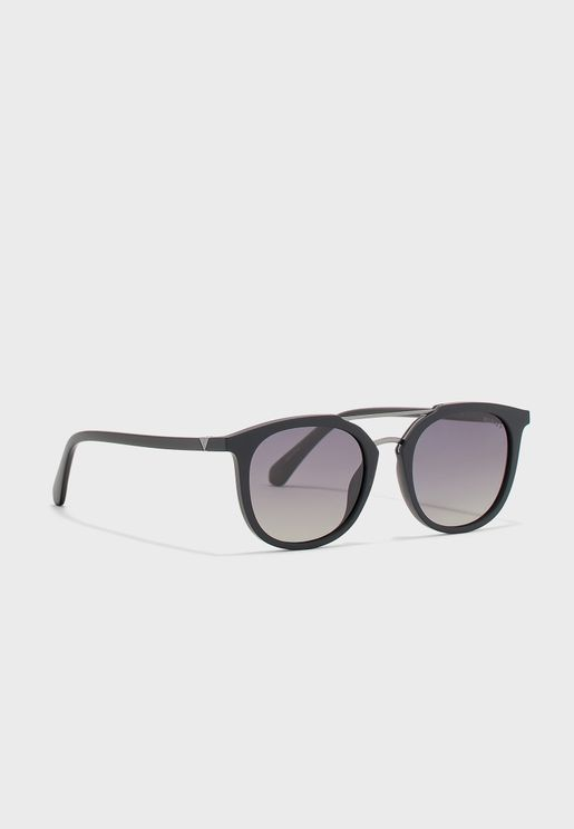 Full-Rimmed Oval Sunglasses