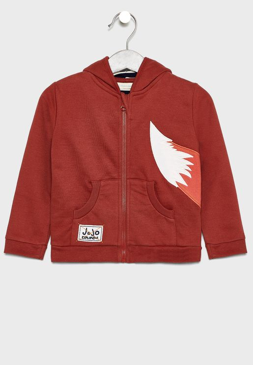 Kids Fox Zip Through Hoodie