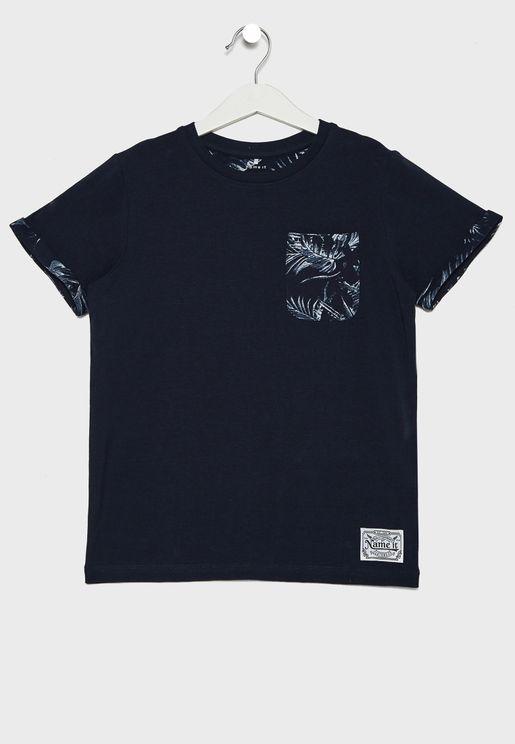 Kids Folded Sleeve T-Shirt