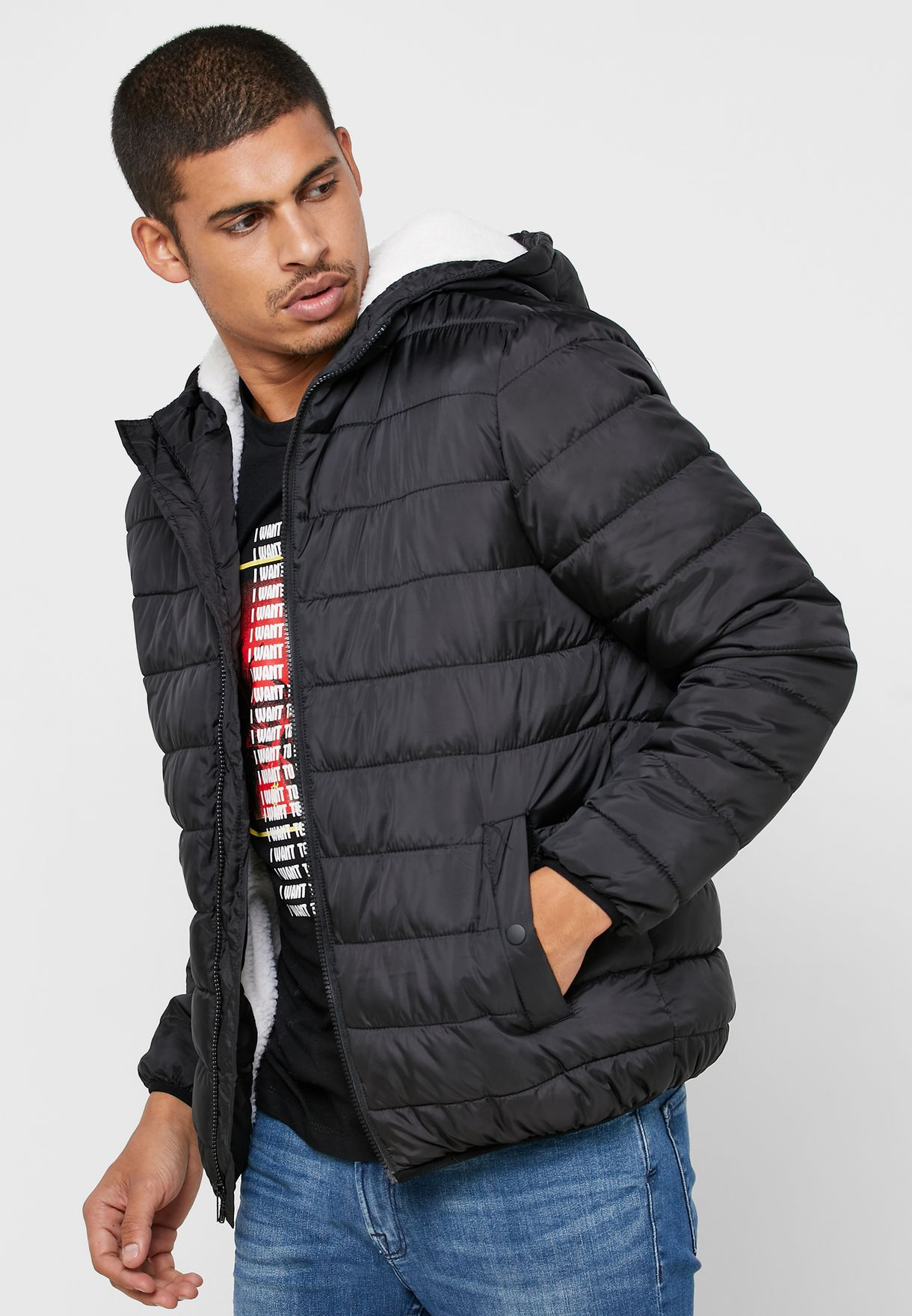 Shearling Puffer Jacket