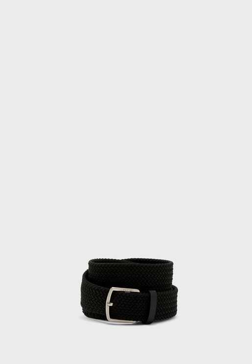 Woven Strap Allocated Hole Belt