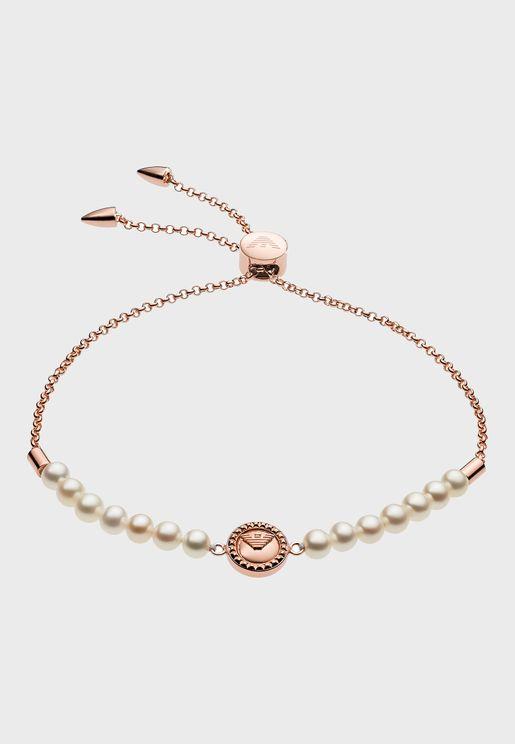 EG3434221 Logo Pearl Bracelet