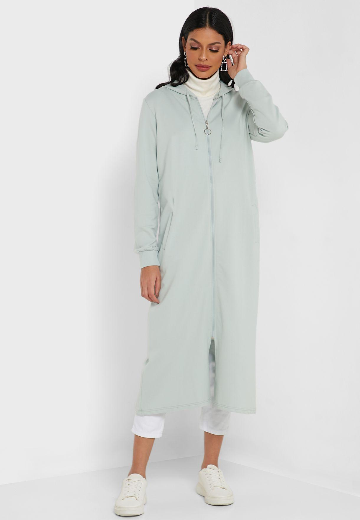 Zip Through Hooded Cardigan