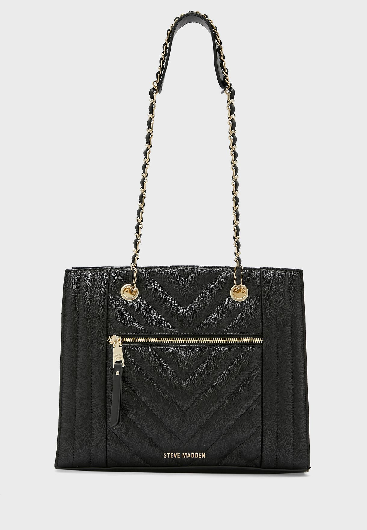 Bdivya Quilted Chain Detail Tote