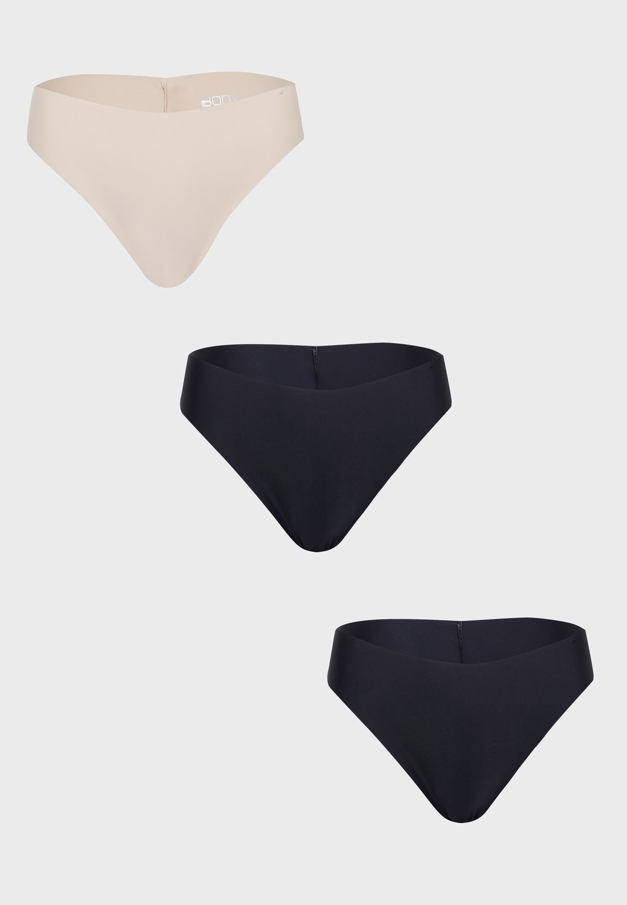 3 Pack The Invisible High Cut Briefs