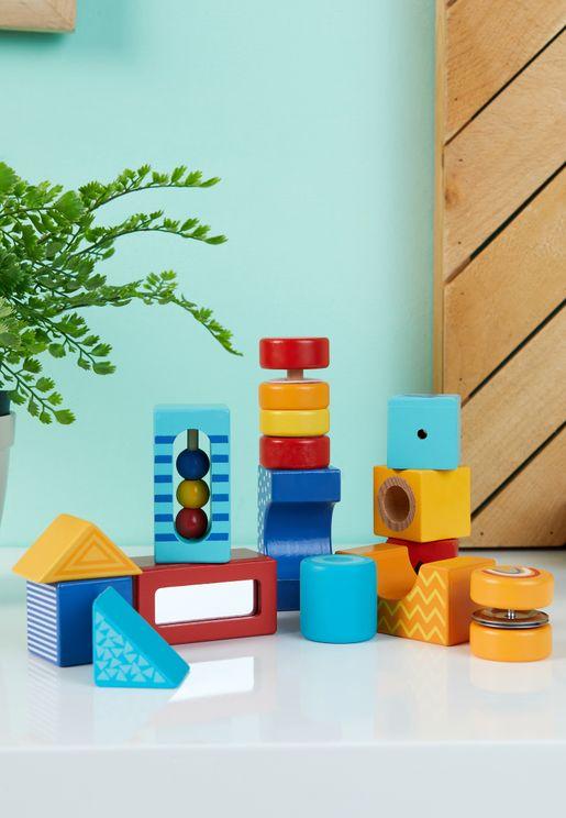 مجموعة مكعبات خشبية
