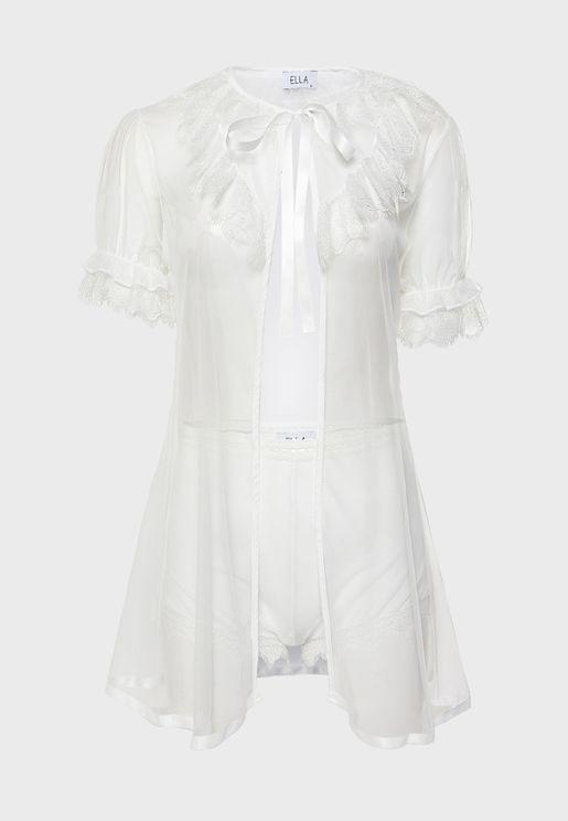 Lace Mesh Dress Lingerie Set