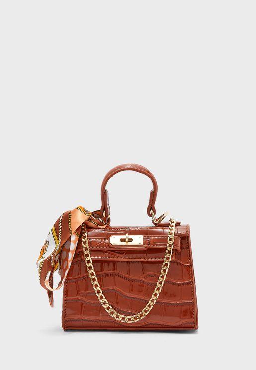 Mini Handbag with Scarf Detail