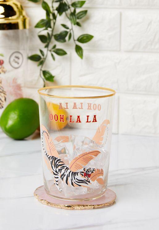 Tiger Hi Ball Drinking Glass