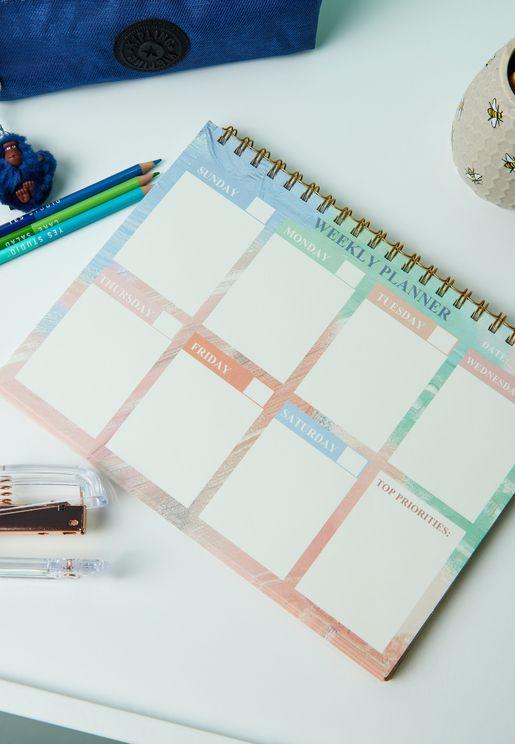 A4 دفتر تخطيط اسبوعي