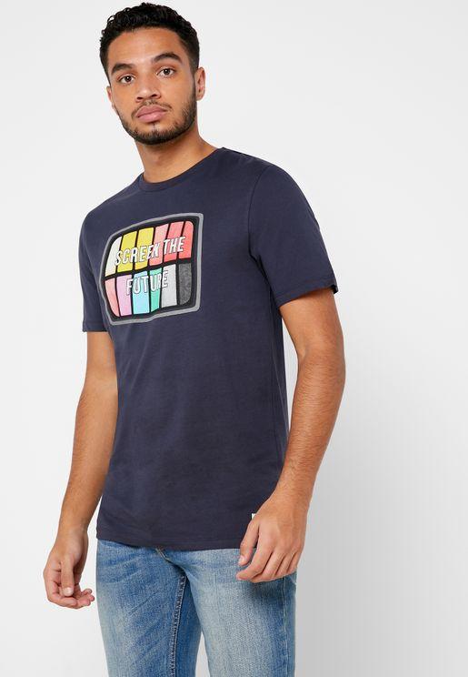 Screen The Future Crew Neck T-Shirt