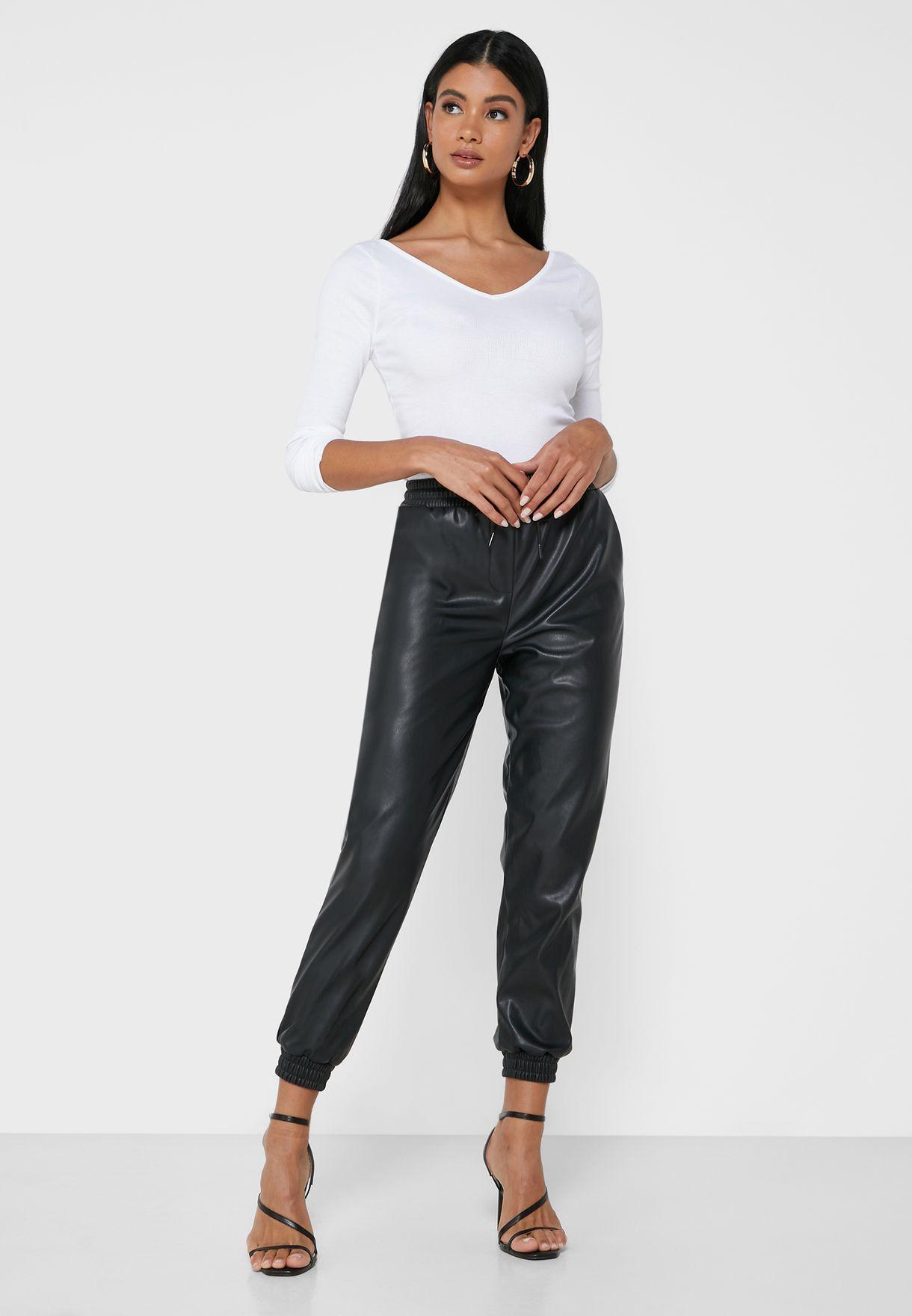 Cuff Metallic Sweatpants