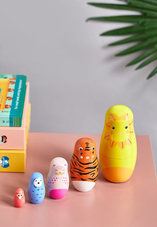 5 Pack Nested Zoo Buddies