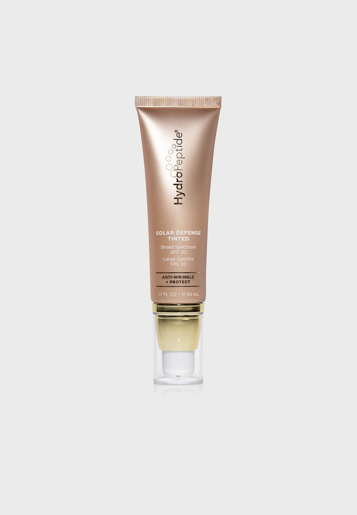Gold 30 SPF solar defence face tinted