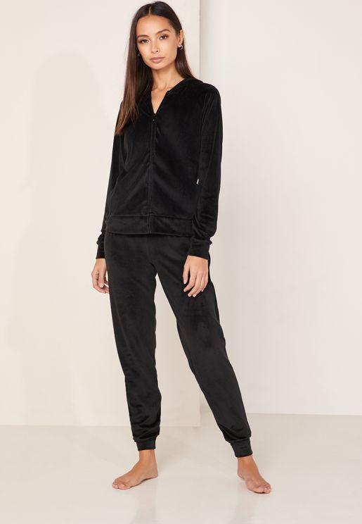 Zip Jacket & Sweatpants Pyjama Set