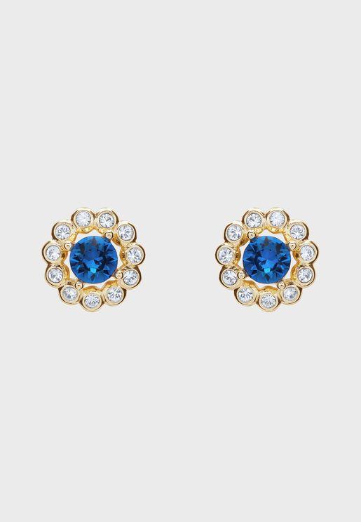 Lralyi Daisy Crystal Stud Earrings
