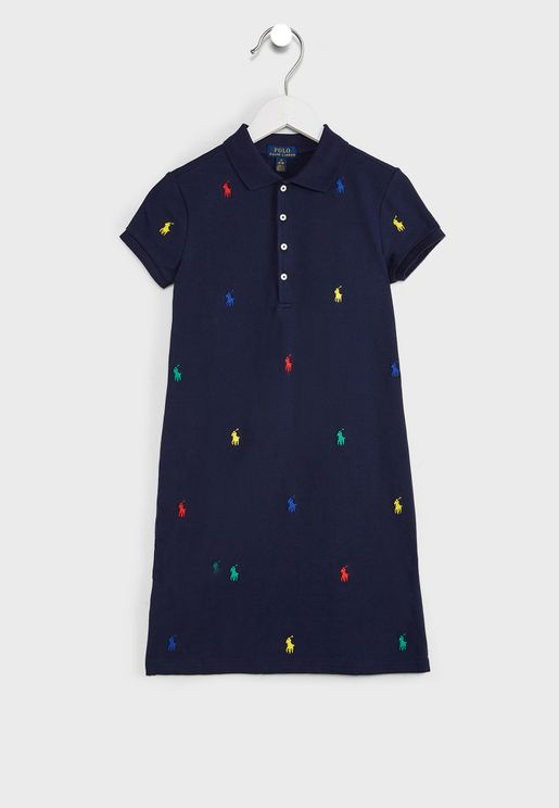 Youth Printed Polo Dress