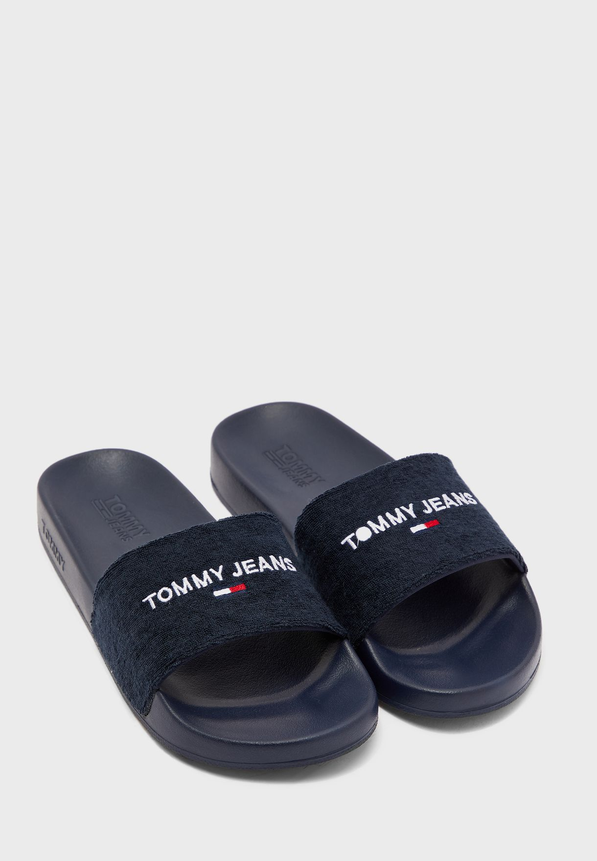 Terry Towel Pool Slide Sandal