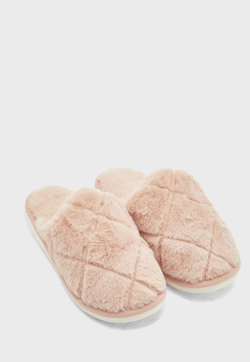 Quilted Mule Bedroom Slippers