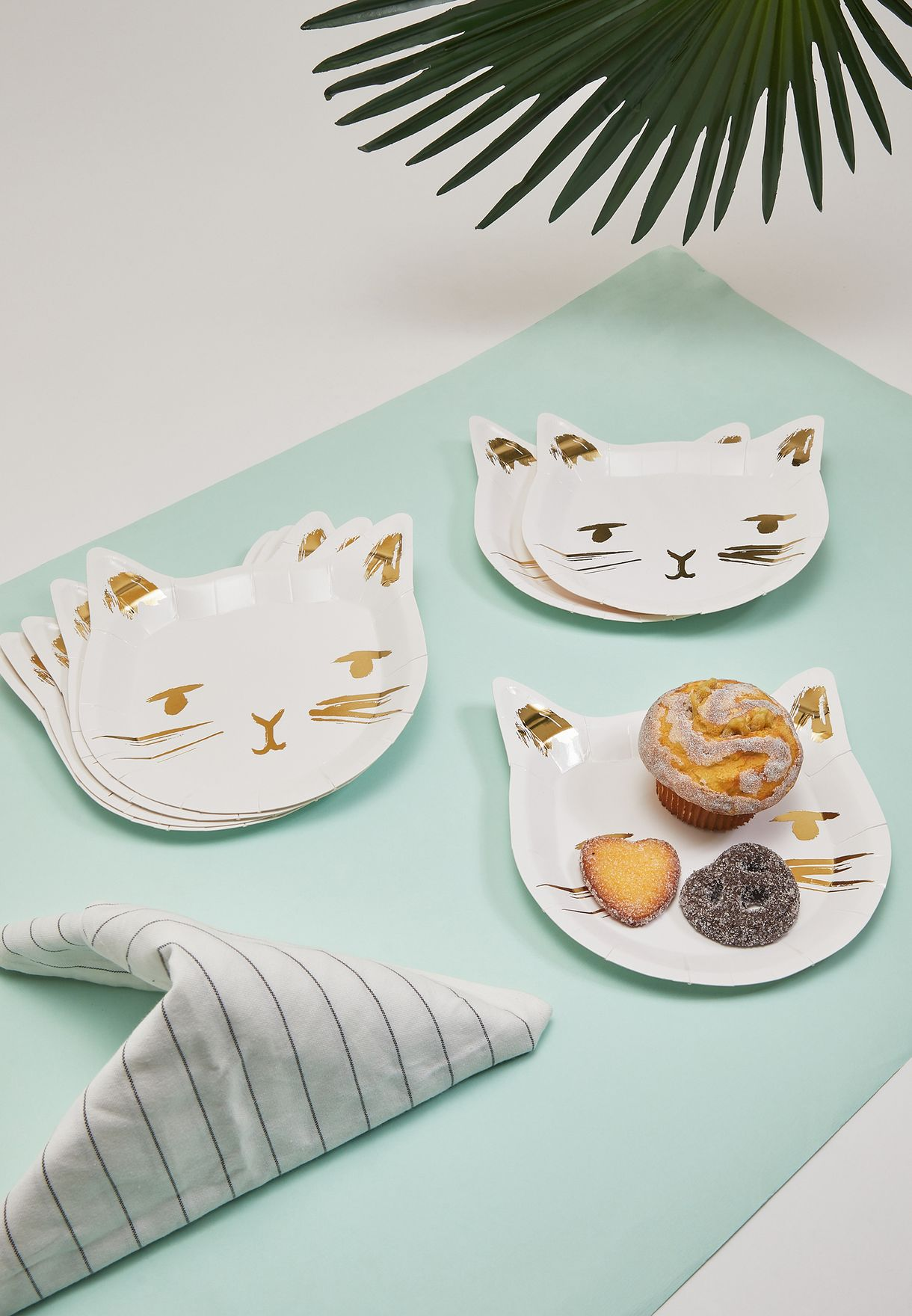 Cat Party Plates 8 Pack