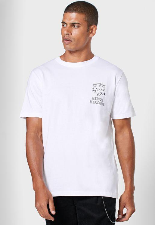Back Print Logo  T-Shirt