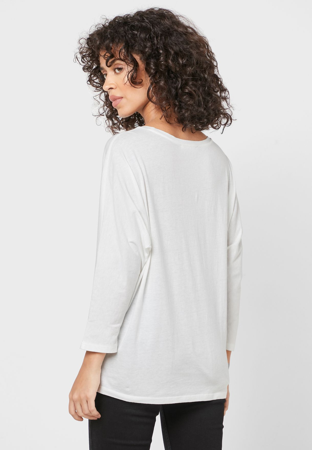 Mango Scoop Neck T-shirt - Fashion