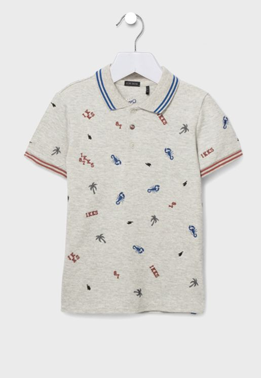 Youth Printed Polo