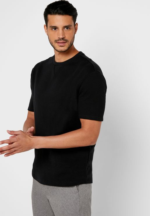 Structured Crew Neck T-Shirt