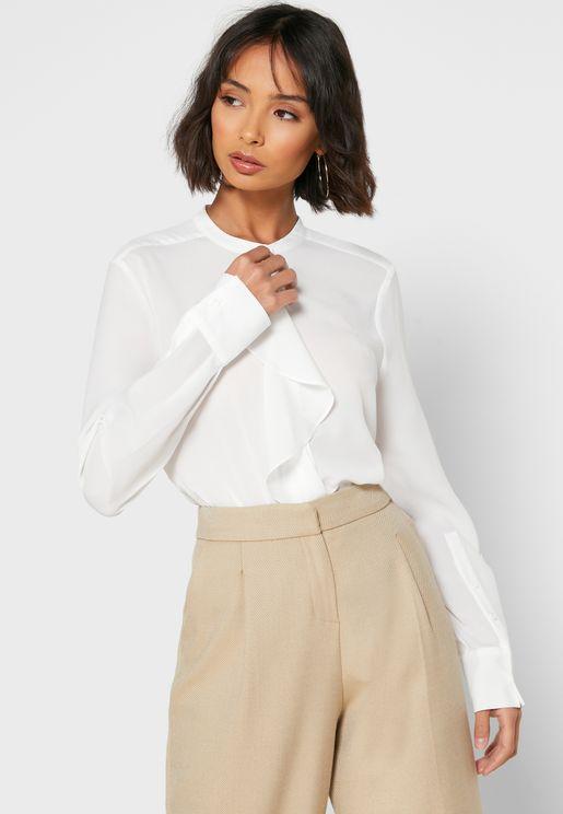 Elna Ruffle Detail Shirt