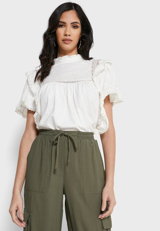 Le Femme Shirred Detail Top