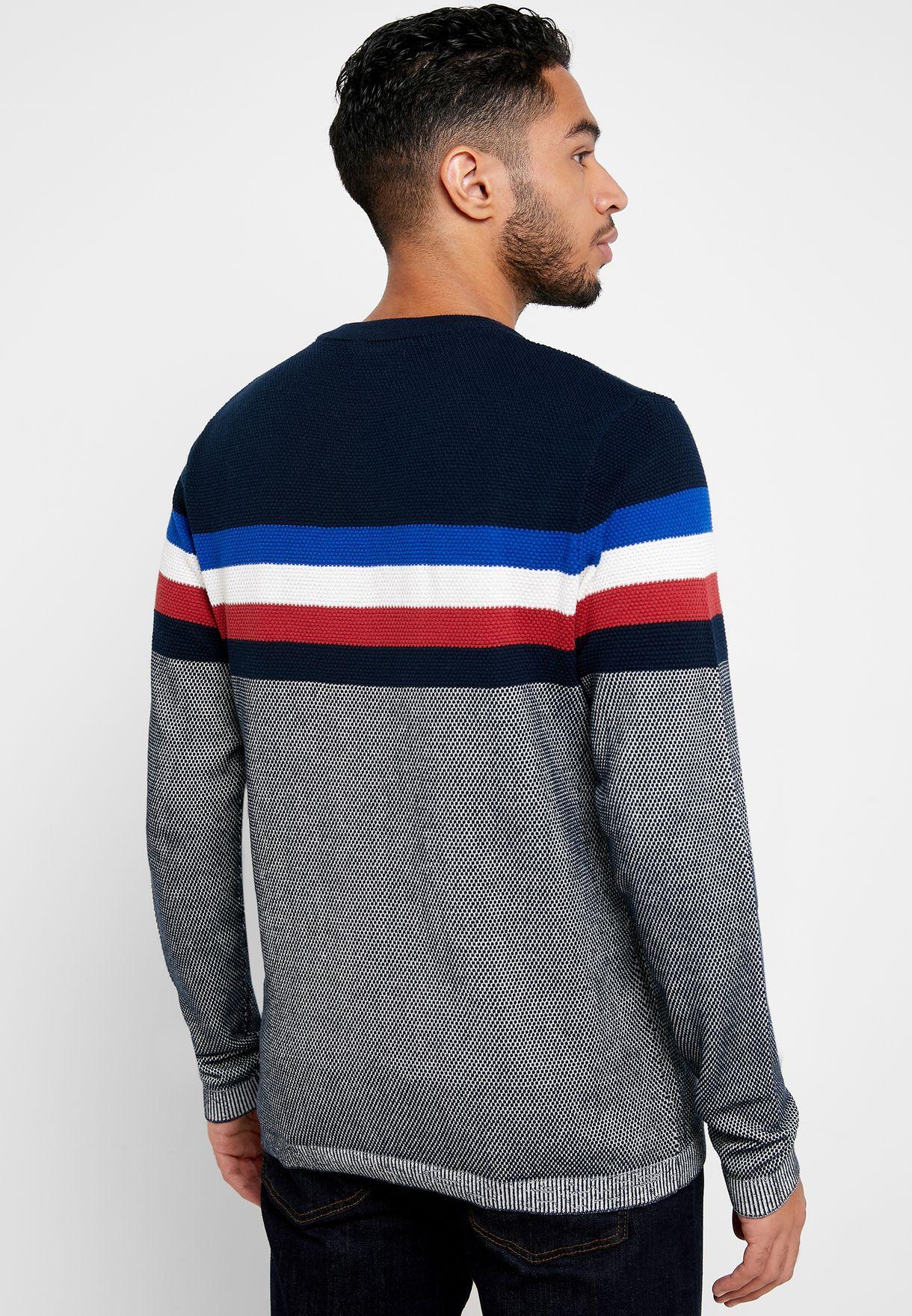 Larry Color Block Sweater