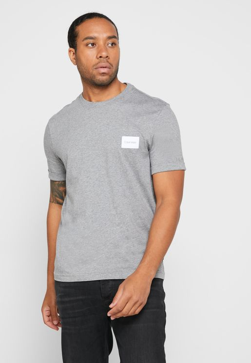 Logo Sleeve Crew Neck T-Shirt