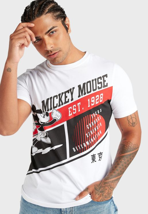 Mickey Mouse Crew Neck T-Shirt