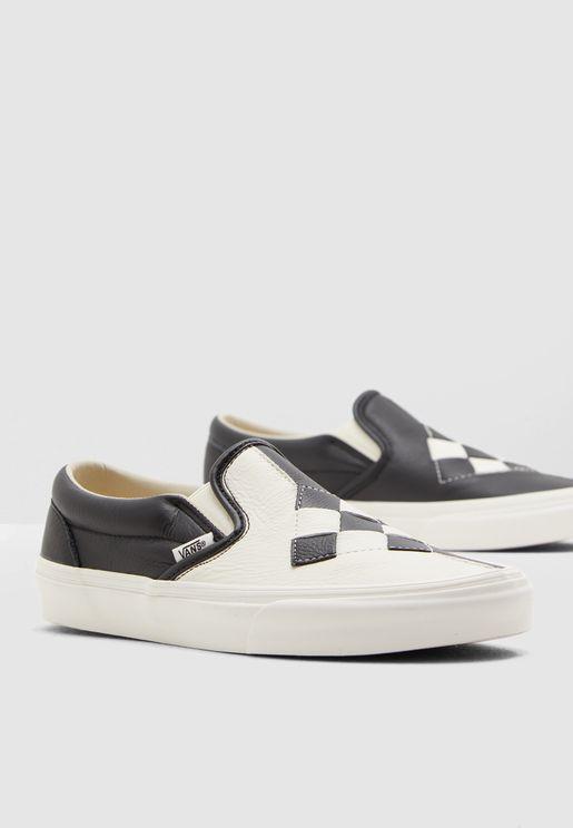 حذاء سنيكرز جلد اصلي بنمط كتل الالوان