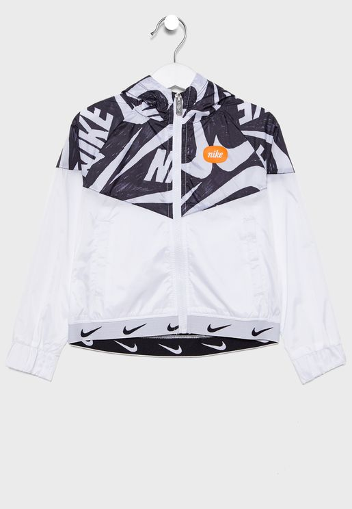 Kids Marker Mash Hooded Windrunner Jacket