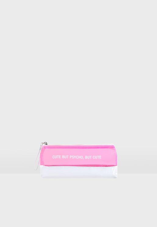 Psycho Slogan Cosmetic Bag