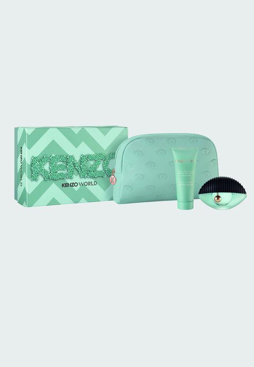 Kenzo World Edp 50ml + 75ml Body Lotion Pouch