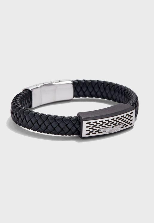 P PJ 26488BLB-01 Pozas Braided Bracelet