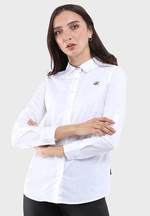 Logo Button Down Shirt