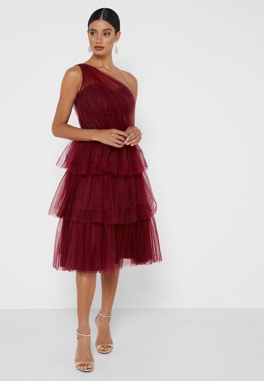Tallulah Layered One Shoulder Dress