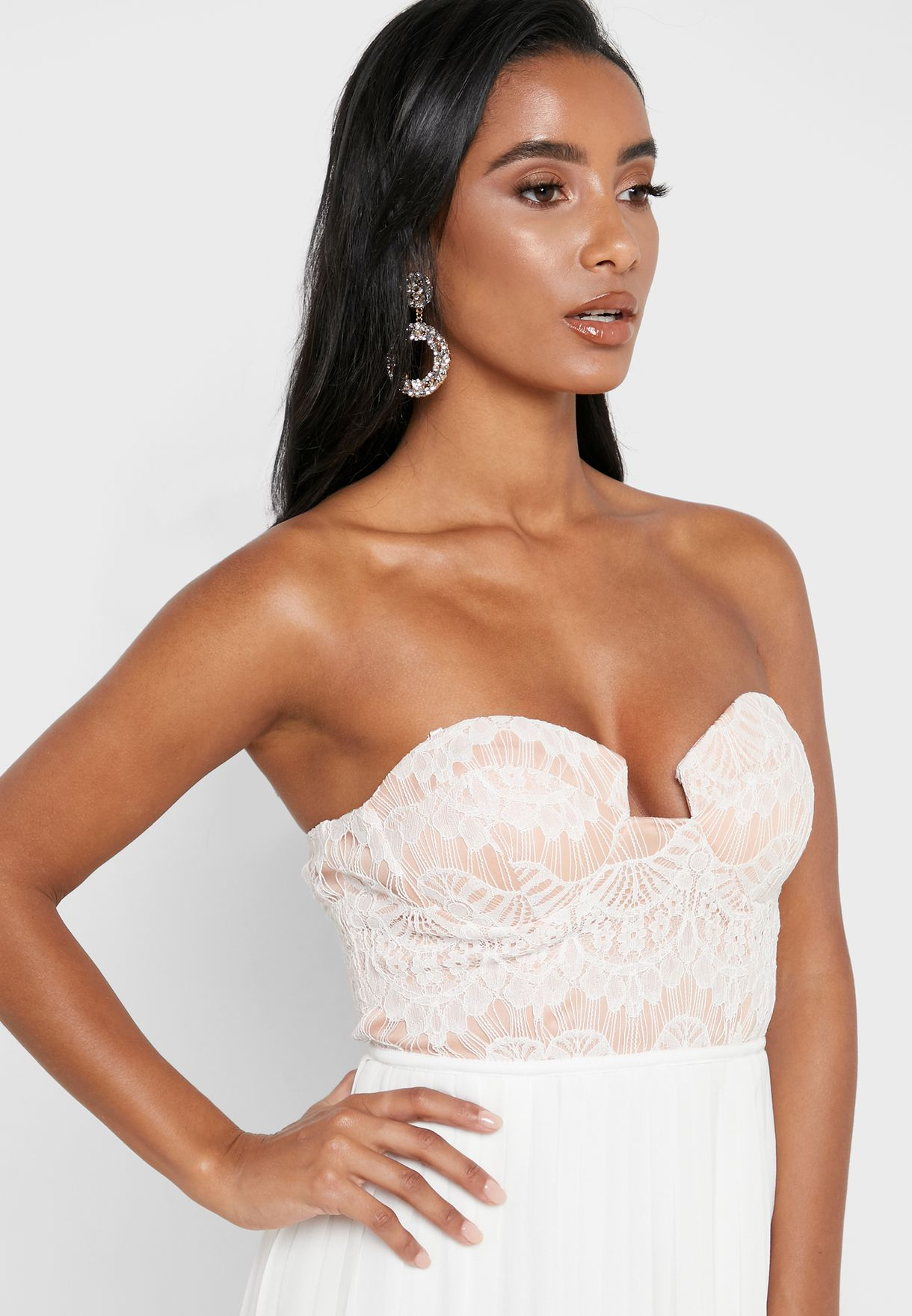 Bandeau Lace Detail Dress