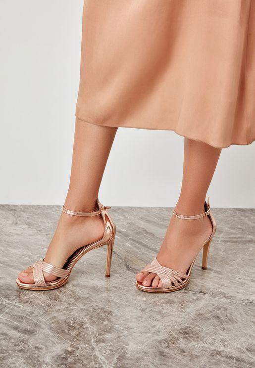 Cross Strap Sandal - Pink