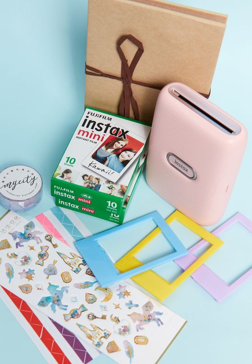 Instax Pink Printer Mini Link Craft Box
